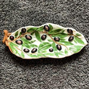 Italian Hand Made Olive Dish